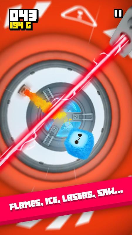 Fluffy Fall: seja rápido, desvie do perigo! screenshot 1