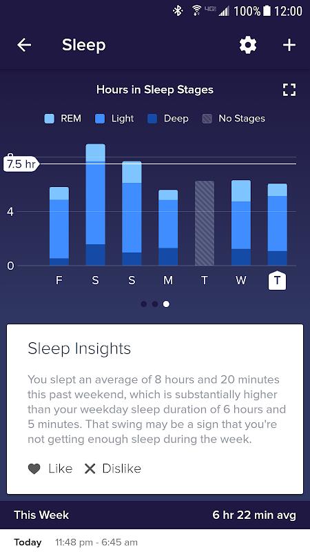 Fitbit screenshot 1