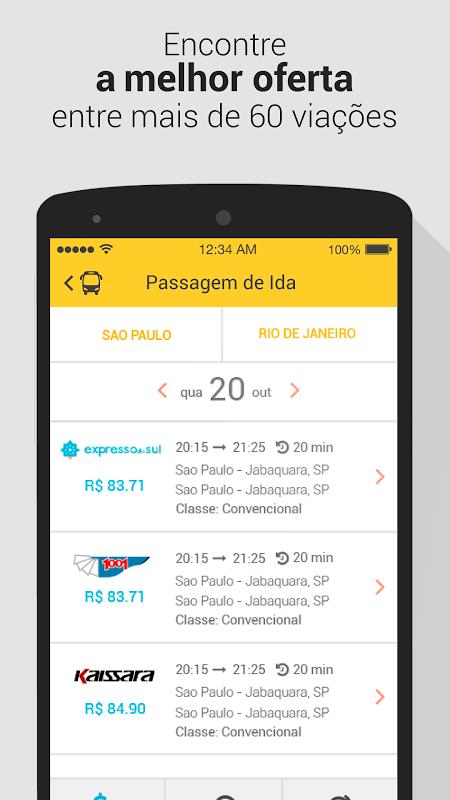 ClickBus - Passagens de ônibus e oferta de viagem screenshot 2