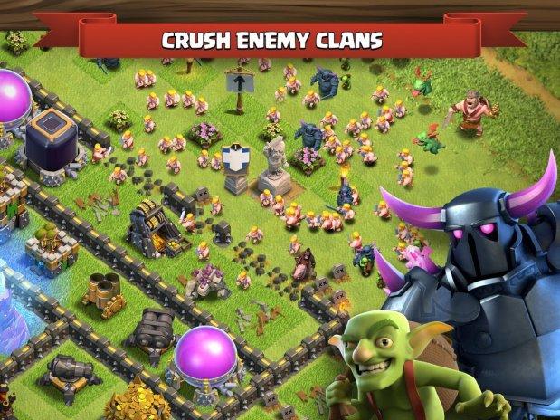 взлом взломанная версия clash of clans