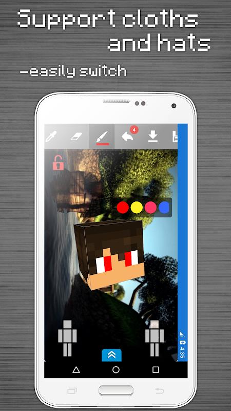 Skins Editor for Minecraft PE (3D) screenshot 7
