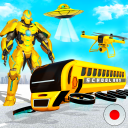 Flying School Bus Robot: Hero Robot Games