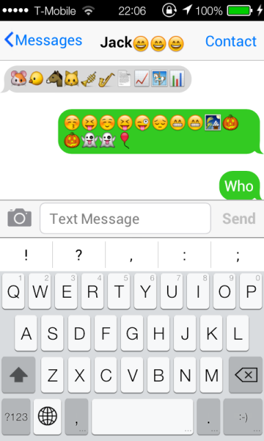 how to add emojis to contacts on iphone 6