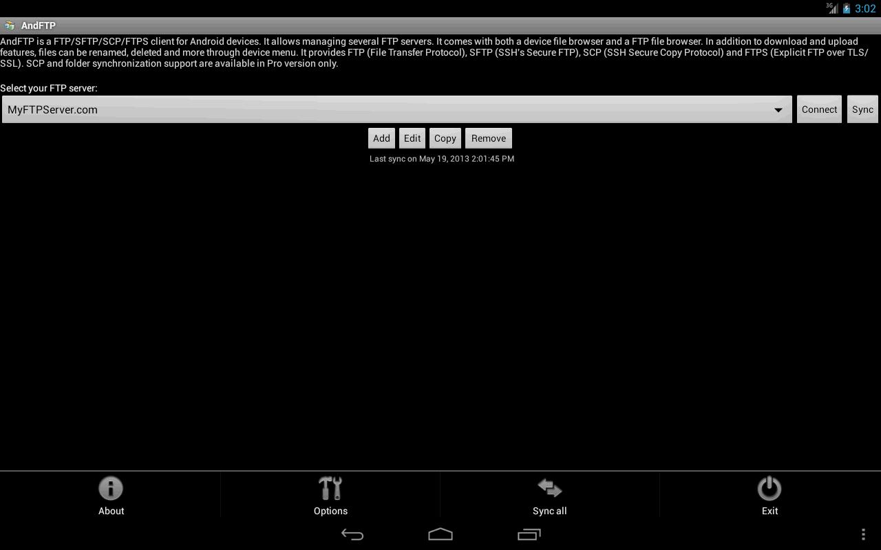 AndFTP screenshot 2