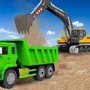 areia escavadora caminhão dirigindo resgate simula