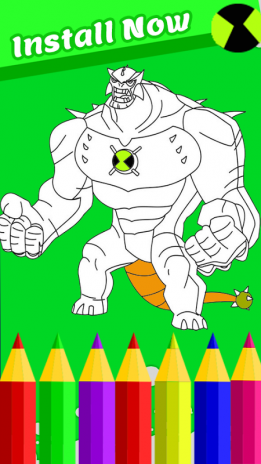 Coloring Book For Ben Aliens And Four Arms Screenshot 2