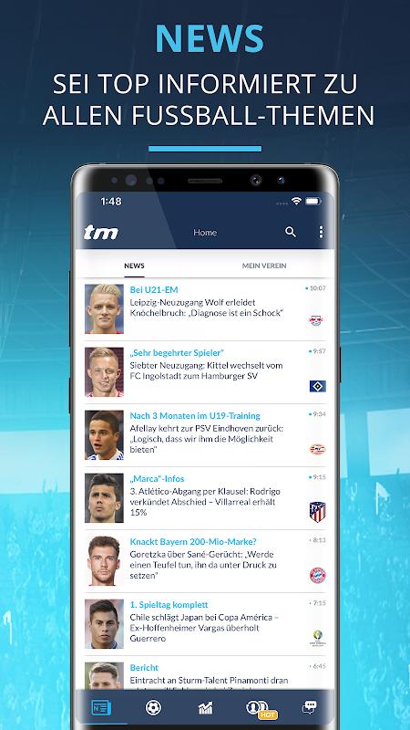 Transfermarkt: Fußballnews, Bundesliga, Liveticker screenshot 2