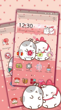 Cute Kitty Love  Theme for CM Launcher 1 1 2 Download APK