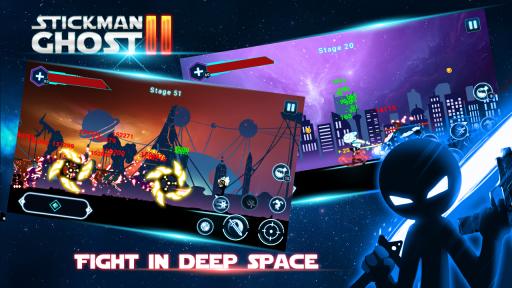 Stickman Ghost 2: Galaxy Wars screenshot 1