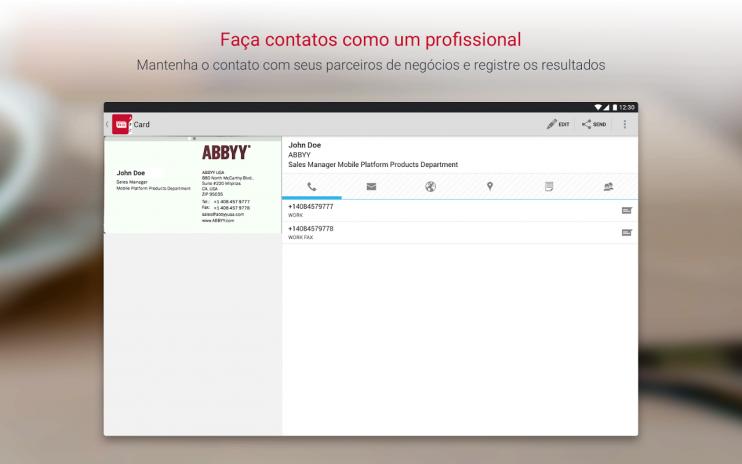 Business card reader pro scanner de carto 4725 baixar apk para business card reader pro scanner de cartao captura de tela 9 reheart Choice Image