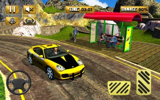 Mountain Crazy City Cab Driver Taxi Game 2018 Screen