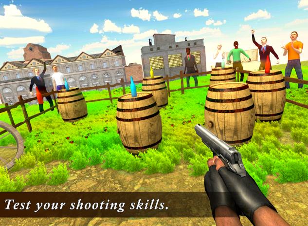 Real Bottle Shoot 3D- Expert Gun Shooting Game 1 2 Download APK for