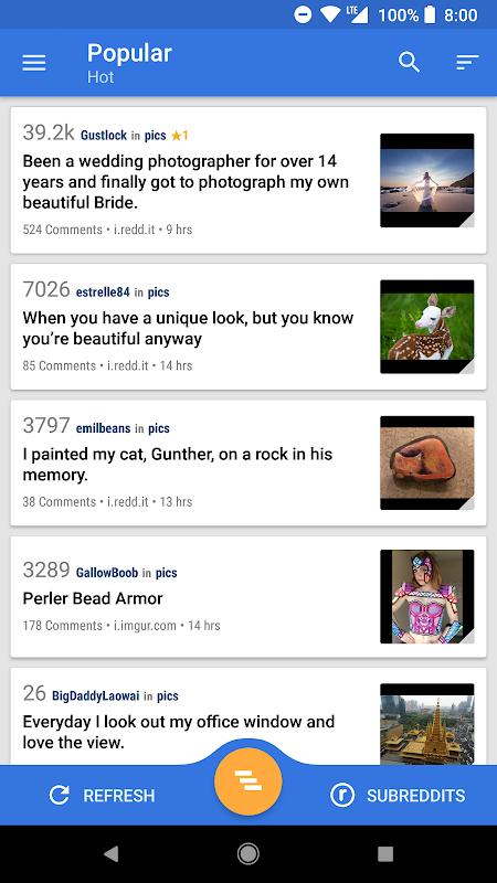 Relay for reddit screenshot 1