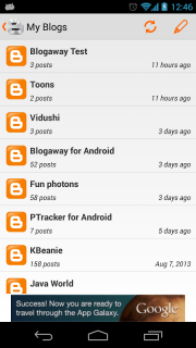 Blogaway for Android (Blogger) screenshot 9