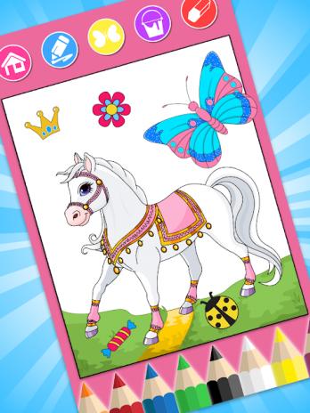 çocuklar Için Prenses Boyama 128 Android Aptoide Için Apk Indir