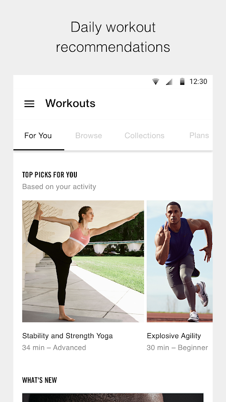 Nike Training Club - Workouts & Fitness Plans screenshot 1