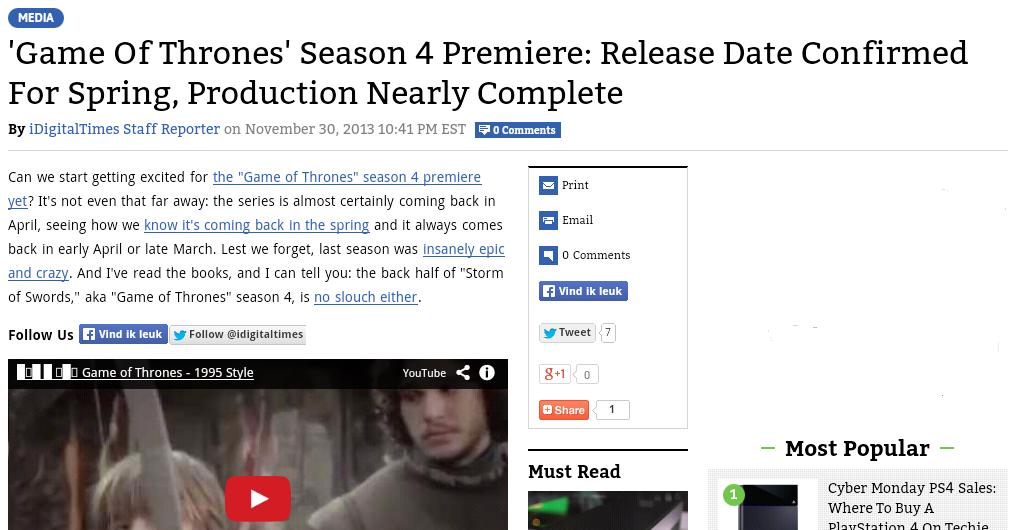 Game of Thrones News screenshot 2