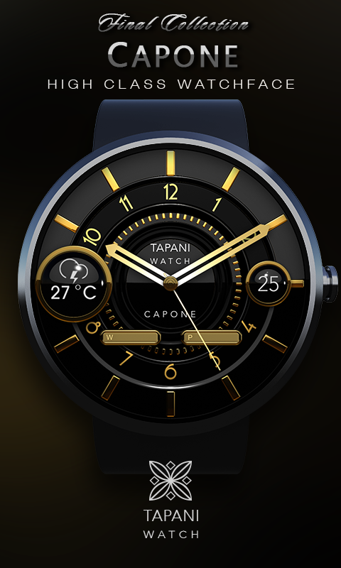 Capone weather wear watch face screenshot 1