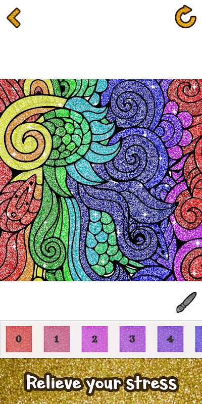 Adult Glitter Paint by Number Book - Sandbox Pages screenshot 1