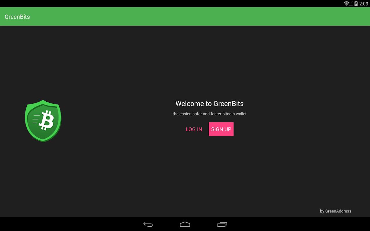 GreenBits Bitcoin Wallet screenshot 1