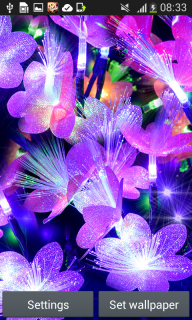 Glow Flowers Live Wallpapers screenshot 3