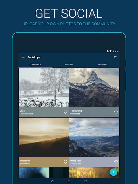 Backdrops - Wallpapers screenshot 2
