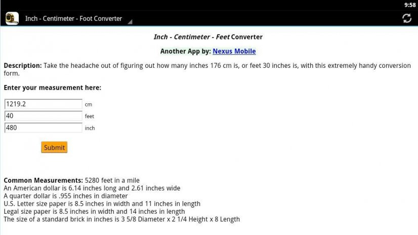 Inch/cm/Foot Conversion 2.0.1 Download APK for Android - Aptoide
