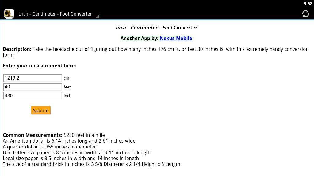 inch cm foot conversion download apk for android aptoide. Black Bedroom Furniture Sets. Home Design Ideas