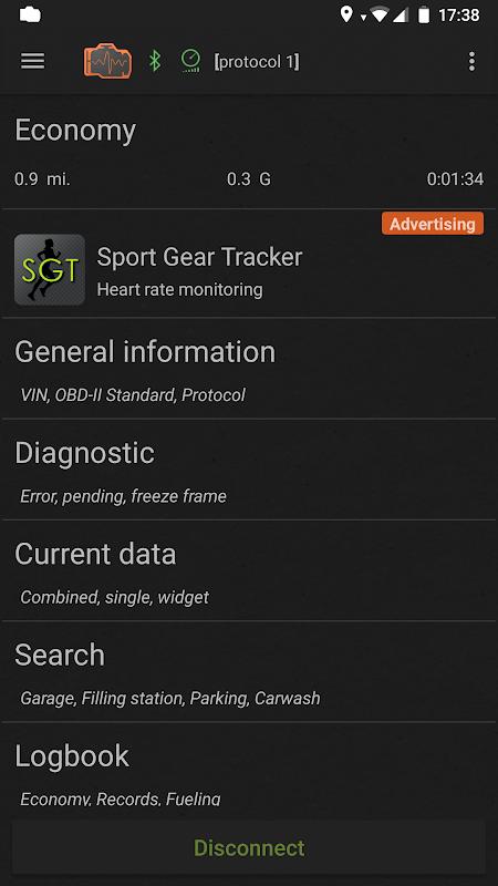 inCarDoc | ELM327 OBD2 Scanner Bluetooth/WiFi screenshot 1