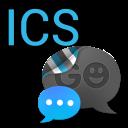 GO SMS THEME - Smooth ICS Blue