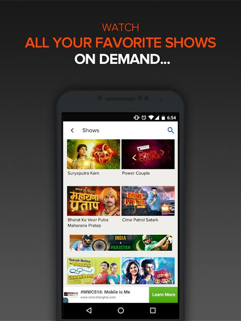 SonyLIV - TV Shows, Movies & Live Sports Online screenshot 1
