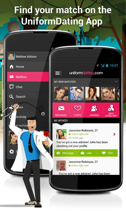 Uniform dating iphone app
