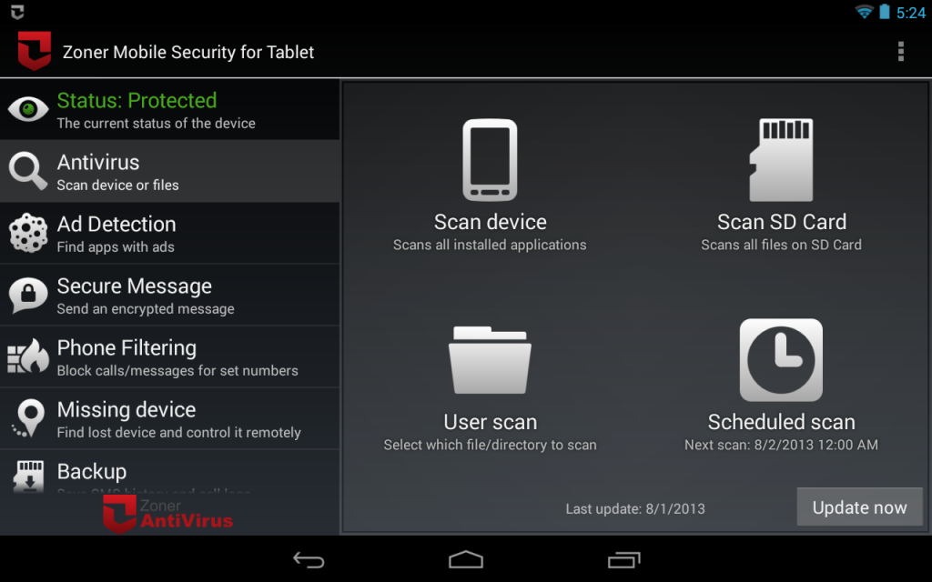 Zoner mobile security tablet download apk for android for App tablet android gratis
