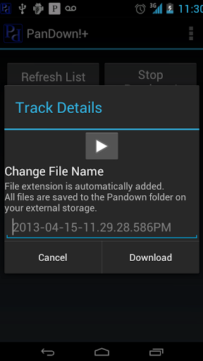 PanDown! Screenshot