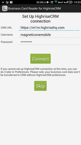 Business card reader for highrise crm 11131 download apk for business card reader for highrise crm screenshot 2 reheart Choice Image