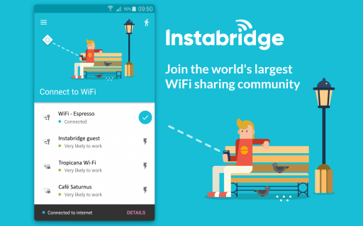 Instabridge - Free WiFi screenshot 1