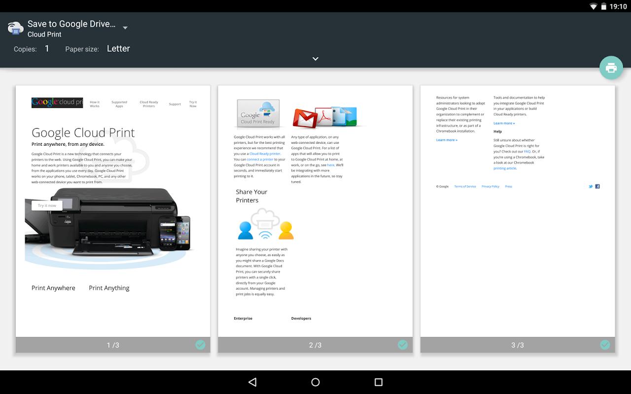 Google Cloud Print screenshot 2