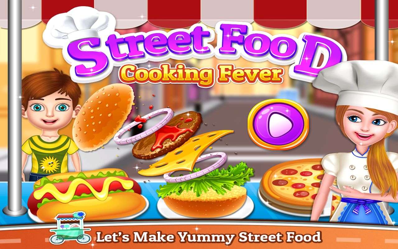 Street Food - Cooking Game : Crazy Kitchen Chef screenshot 1