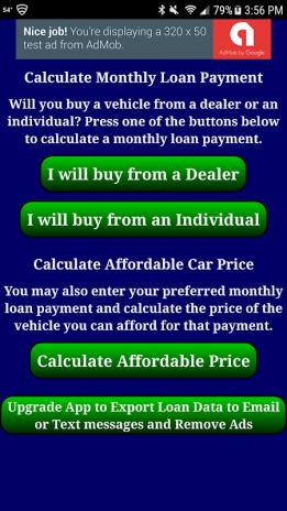 Car Loan Calculator App >> Auto Car Loan Payment Calculator Free 2 5 5 Download Apk For