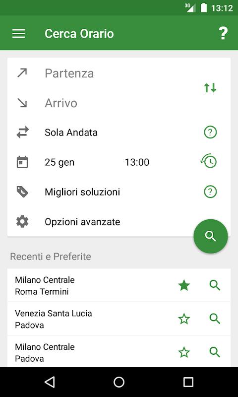 Train Timetable Italy screenshot 1