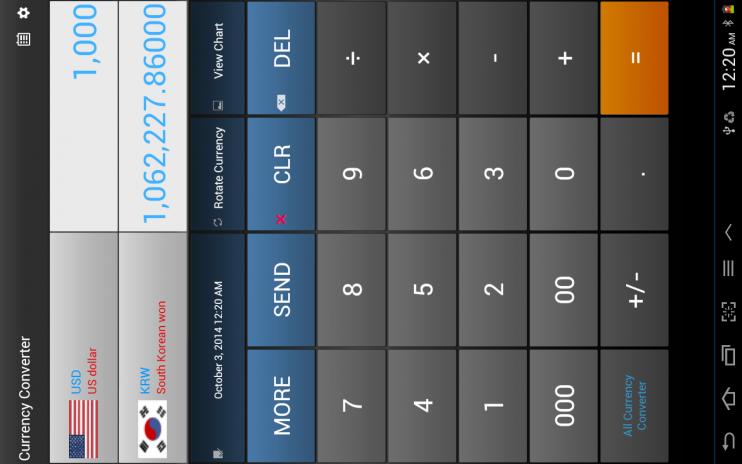convertidor de divisas captura de pantalla 1