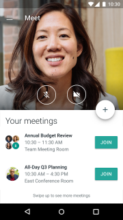 Hangouts Meet screenshot 1