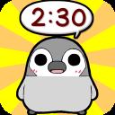 Pesoguin Clock Full -Penguin-