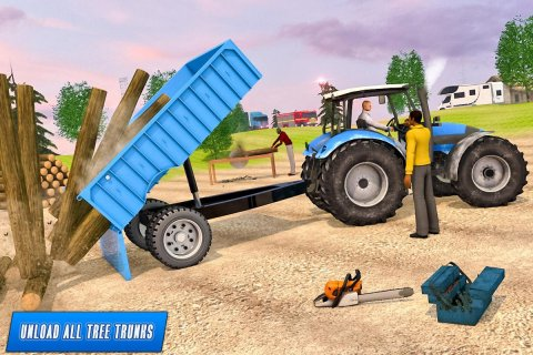 Heavy Tractor Trolley Driver Simulator: Free Games screenshot 5