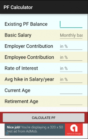 PF Calculator 4 1 1 Download APK for Android - Aptoide