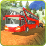 offroad coach bus hill driver icon
