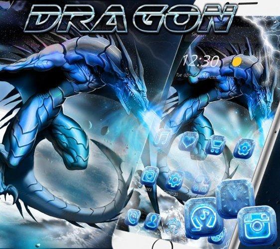 Es Naga Tema Wallpaper Mengunci Layar Ice Dragon 1 1 3 Download Apk Android Aptoide