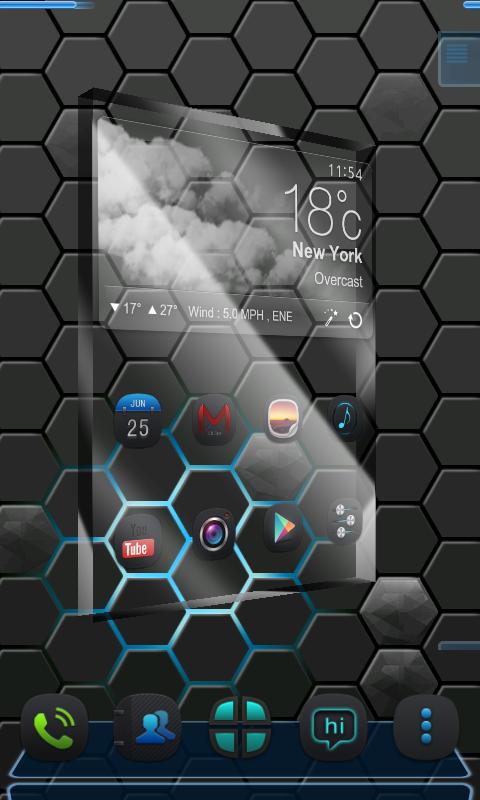 Next honeycomb live wallpaper screenshot 1