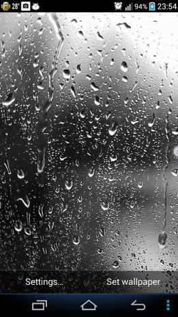 Raindrops Live Wallpaper Screenshot 1