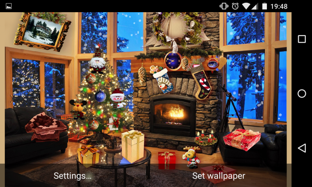 Christmas Fireplace Lwp Full Download Apk For Android Aptoide